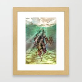 Aquanauts - Tales from under the sea Framed Art Print