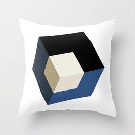 3D effect cube Throw Pillow