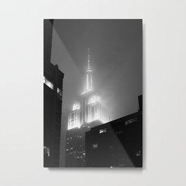 NYC in the rain Metal Print