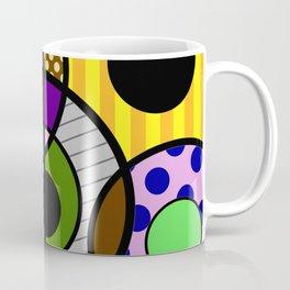 Patterned Retro - Geometric, Abstract Artwork Coffee Mug