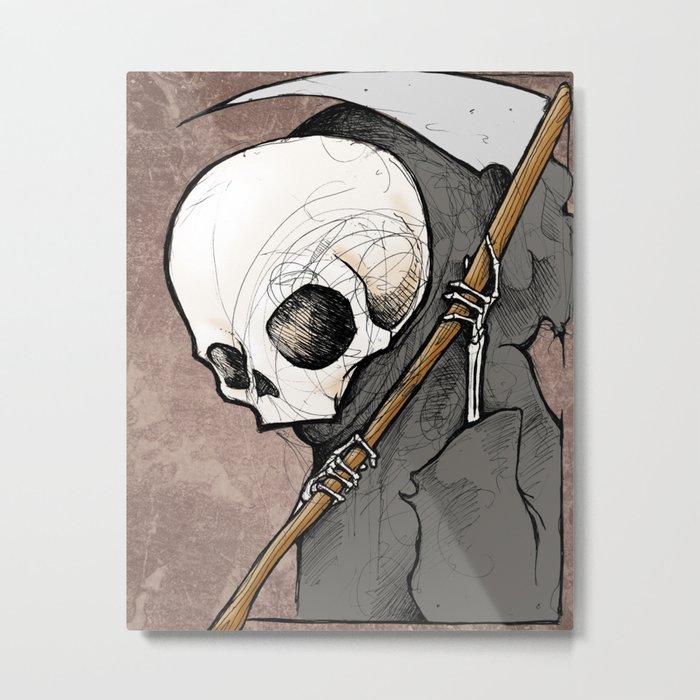Death scribble Metal Print