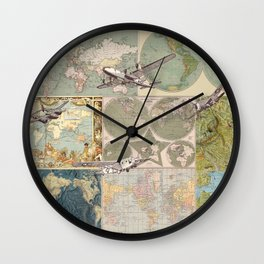 Flight Patterns Wall Clock
