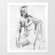 Dreamy Young Woman Art Print