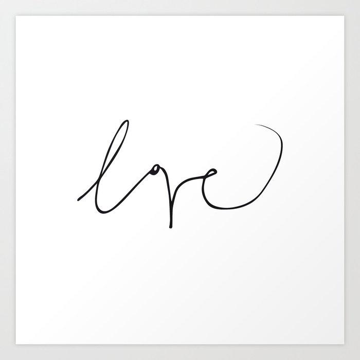 LOVE NO3 Art Print