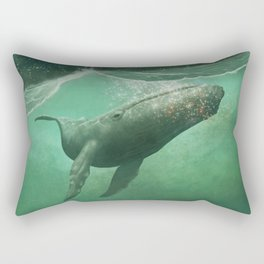 The Whale & The Moon Rectangular Pillow