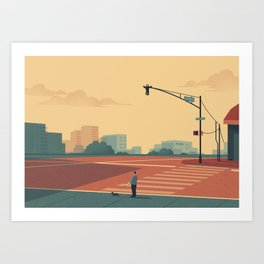 Urban Wildlife - Giraffe Art Print