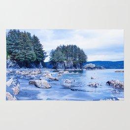 Spring Beach Photography Print Rug