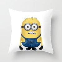 minion Throw Pillows featuring Minion  by Lyre Aloise