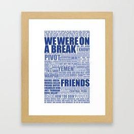 Friends (blue) Framed Art Print
