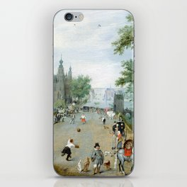 Adriaen van de Venne A Jeu de Paume Before a Country Palace iPhone Skin