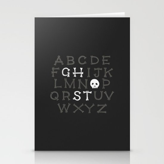 Somethin' strange in your alphabet Stationery Cards