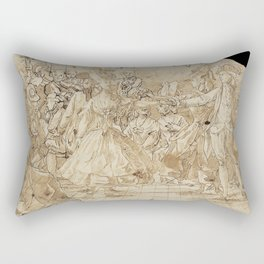 Antoni Casanovas Torrents (attributed) - Minuet (1780) Rectangular Pillow