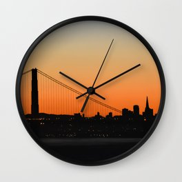 City Silhouette Wall Clock