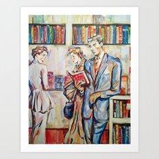 Vintage boy Art Print