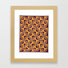 FANcy Pseudo-Quilt Framed Art Print
