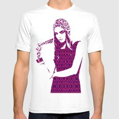 Cara Delevingne Mens Fitted Tee White SMALL