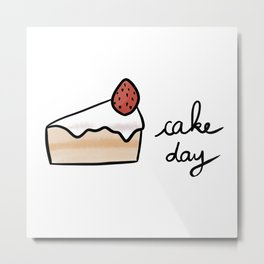Cake Day / Cute Coffee Dates Metal Print