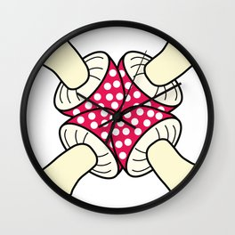 mashroom cross Wall Clock