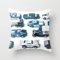 Its A Parking Lot Out There... Blue Throw Pillow