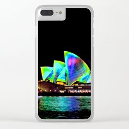 Sydney Opera House Vivid Light Show Clear iPhone Case