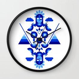 Libra in Blue Wall Clock