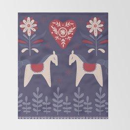 Swedish Christmas Throw Blanket