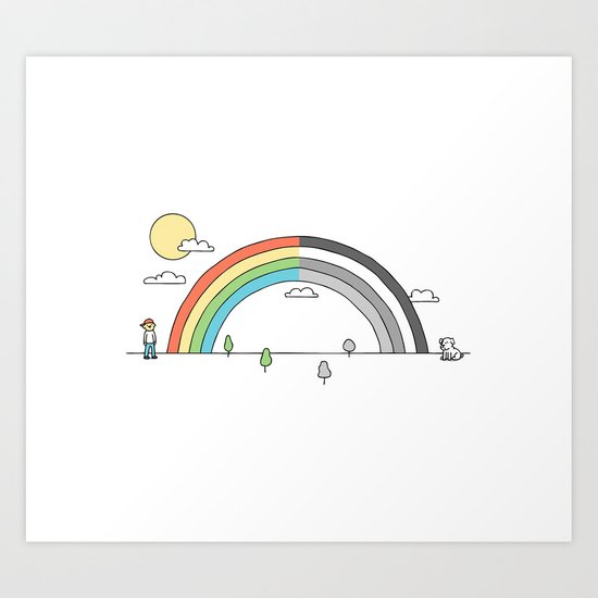 Colorblind Art Print