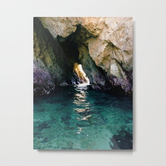 Colorful Ocean Cave Metal Print