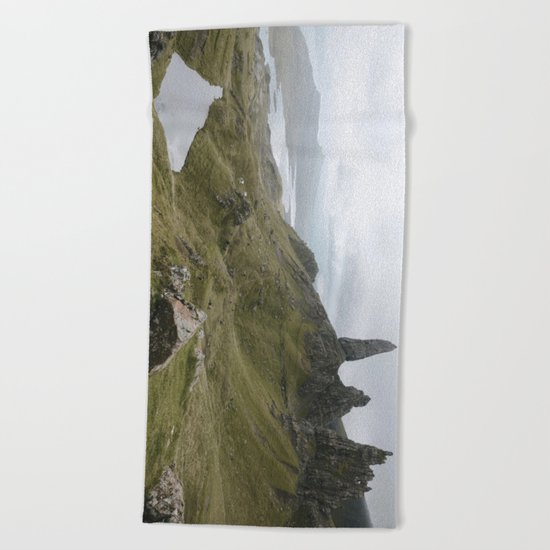 The Old Man of Storr - Landscape Photography Beach Towel