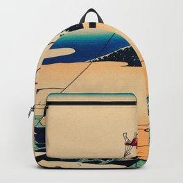 Katsushika Hokusai - Toto Asakusa Honganji Backpack