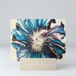 Turquoise Floral Mini Art Print