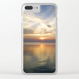 What time is sunset? Clear iPhone Case