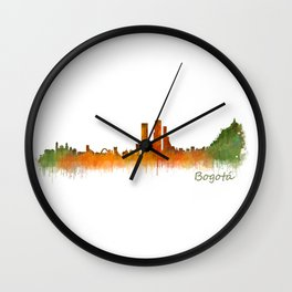 Bogota City Skyline Hq V2 Wall Clock