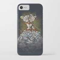 teen titans iPhone & iPod Cases featuring CLASH OF THE TITANS  by Peter Kramar