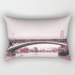 Pink mood at Triana Bridge Rectangular Pillow