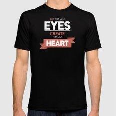 ...Create With Your Heart Mens Fitted Tee Black MEDIUM