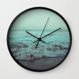 Crash into Me - Aqua Vintage Beach Edition Wall Clock