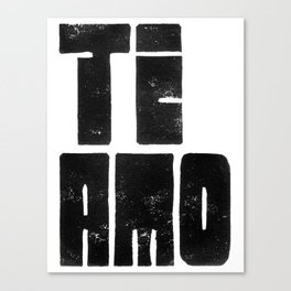 Te Amo Ti Amo - by Genu WORDISIAC™ TYPOGY™ Canvas Print