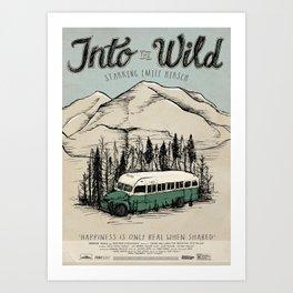 Into The Wild Film Poster Art Print