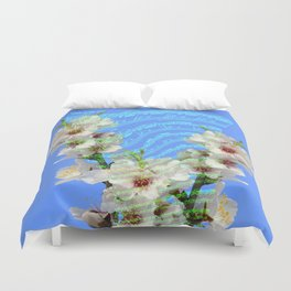 notes of works of bach on the background of flowers Duvet Cover