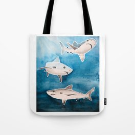 Reef Sharks Tote Bag