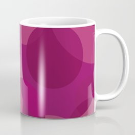 Fuchsia Circles Coffee Mug