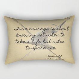 True Courage Rectangular Pillow