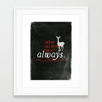 snape Framed Art Prints featuring Harry Potter Severus Snape After all this time? - Always. by raeuberstochter