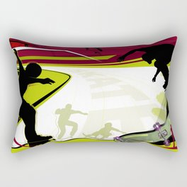 Skateboarding Rectangular Pillow