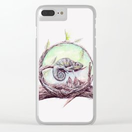 My mother is a chameleon Clear iPhone Case