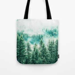 Forest + Fog #photography #nature Tote Bag