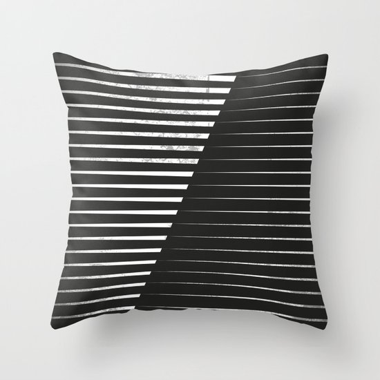 Black vs. White Throw Pillow by Metron Society6