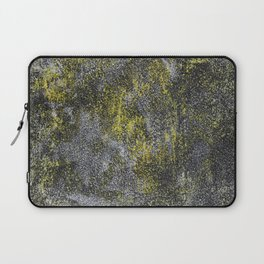 Black and White Ink on Yellow Background Laptop Sleeve