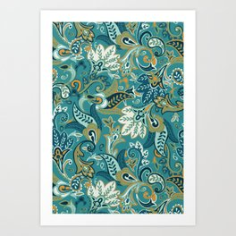 I Fall For Autumn Paisley - Everyday Colorway Art Print